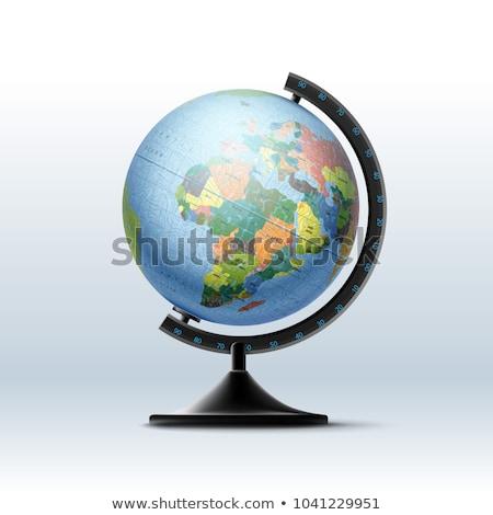 ícone globo suporte área de trabalho estudante material escolar Foto stock © MarySan