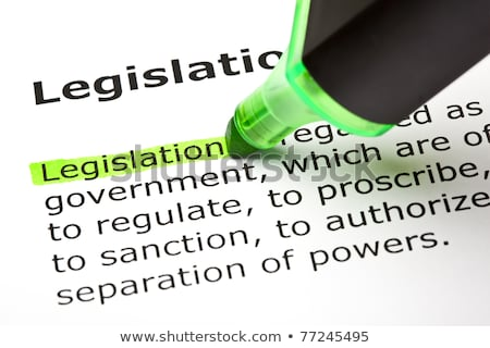 The word 'Legislation' highlighted in green Stock photo © ivelin