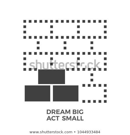 álom nagy tett kicsi vektor ikon Stock fotó © smoki
