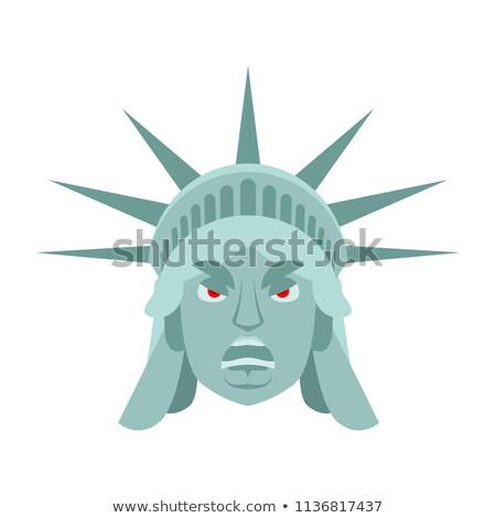 статуя свободы сердиться ориентир лице агрессивный Сток-фото © popaukropa