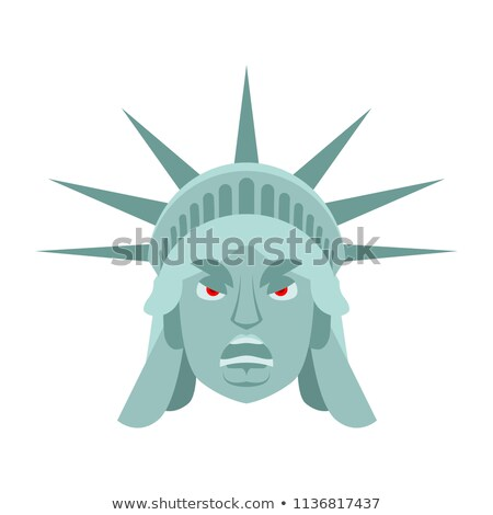 emoticon · supărat · galben · alb · ochi · negru - imagine de stoc © popaukropa