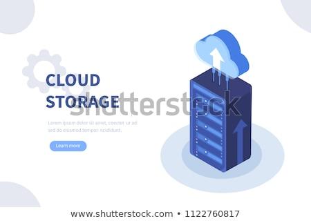 Háló hosting szolgáltatás izometrikus vektor felhő alapú technológia Stock fotó © TarikVision
