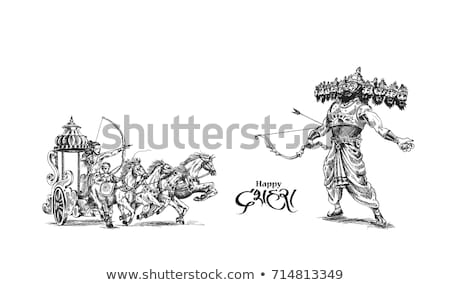 Festival India poster illustrazione messaggio significato Foto d'archivio © vectomart