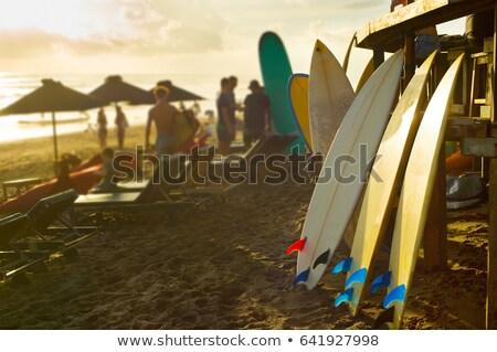 Surfer raggi di sole bali isola piedi spiaggia Foto d'archivio © joyr