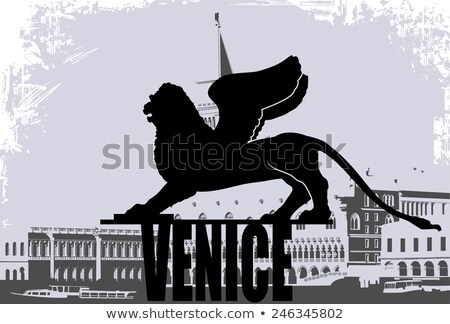 Lion symbol of Venice Stock photo © neirfy