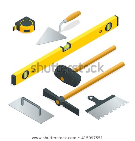 Conjunto 3D ícones ferramenta pedreiro pedreiro Foto stock © kup1984
