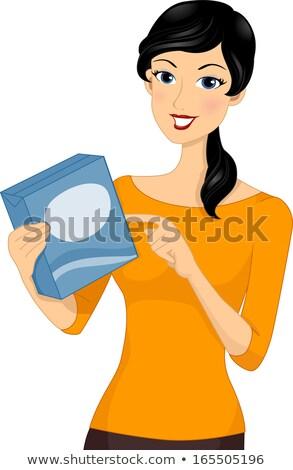 Menina nutrição fatos etiqueta ilustração nutricionista Foto stock © lenm