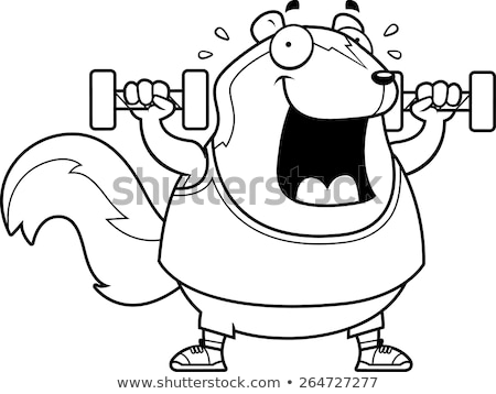 Cartoon mofeta pesas ilustración Foto stock © cthoman