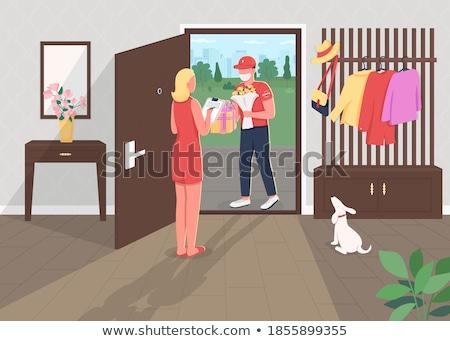 Delivery women_complex Stock photo © toyotoyo