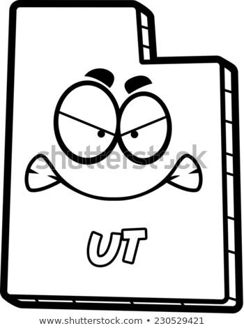 Cartoon Angry Utah Stock photo © cthoman