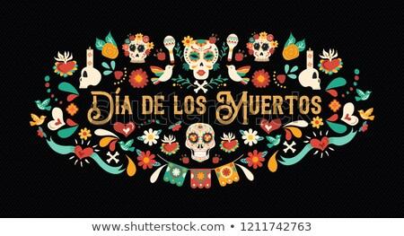 Gün ölü İspanyolca dil tebrik kartı örnek Stok fotoğraf © cienpies