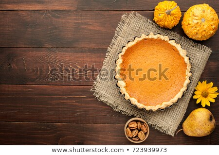 pumpkin pie on wood background Stock photo © M-studio