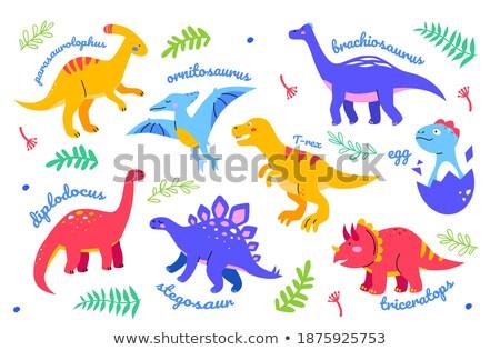 Different design of brachiosaurus dinosaur Stock photo © colematt