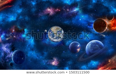 сцена планеты галактики иллюстрация фон искусства Сток-фото © colematt