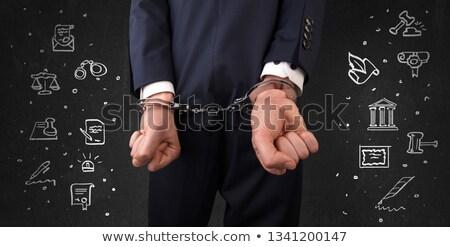 tutuklandı · adam · kelepçe · eller · Afrika · yalıtılmış - stok fotoğraf © ra2studio