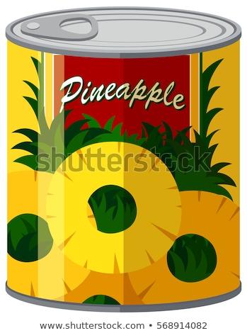 консервированный продовольствие ананаса Ломтики стекла банку Сток-фото © robuart