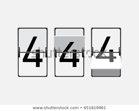 Set of numbers, digits in mechanical scoreboard style Stock photo © MarySan