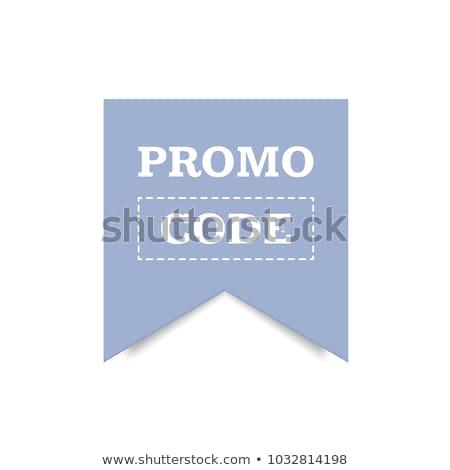 Promoción código vector establecer tarjetas Foto stock © Natali_Brill