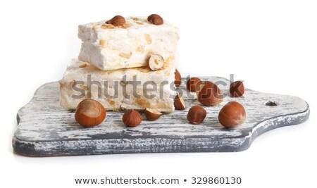 White nougat slices on cutting board Stock photo © Alex9500