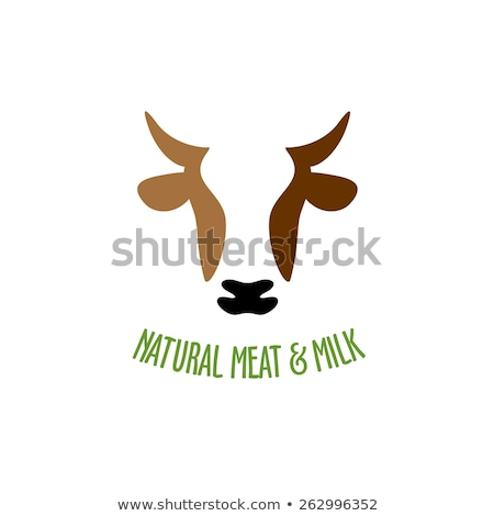 brown cow head vector icon stock photo © blaskorizov