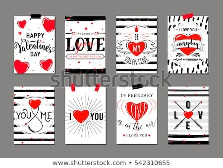 グリーティングカード · デザインテンプレート · 幸せ · バレンタインデー · eps · 10 - ストックフォト © jeksongraphics