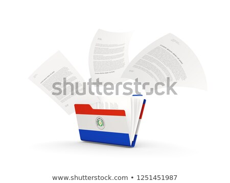Folder with flag of paraguay Stock photo © MikhailMishchenko