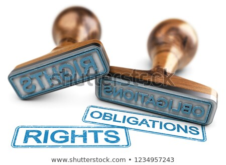 Stock photo: Rights And Obligations Words Over White Background