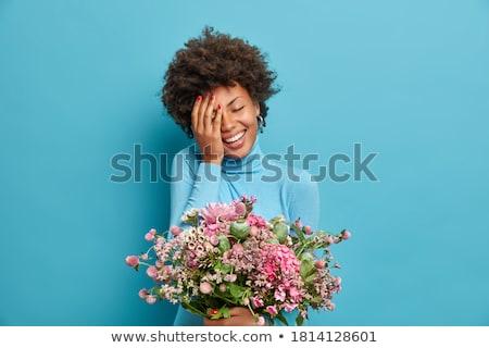 Zadowolony kobieta obecnej Zdjęcia stock © deandrobot