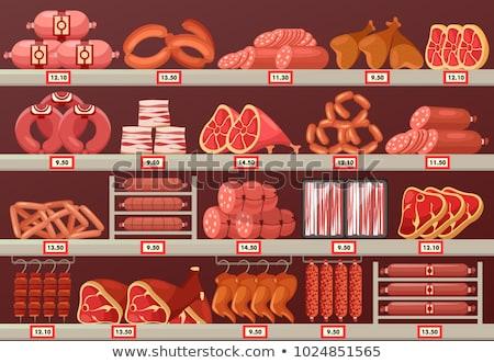 prosciutto · carne · vendita · alimentare · mercato - foto d'archivio © dolgachov