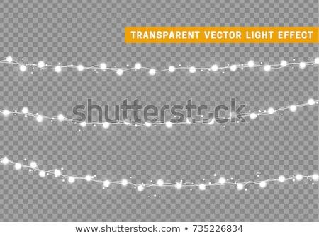 Kerstmis kleur guirlande feestelijk decoraties Stockfoto © olehsvetiukha