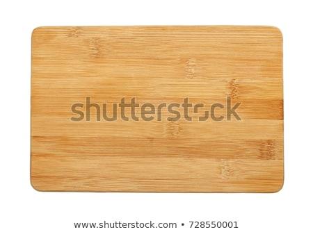 прямоугольный древесины разделочная доска темно конкретные Сток-фото © homydesign