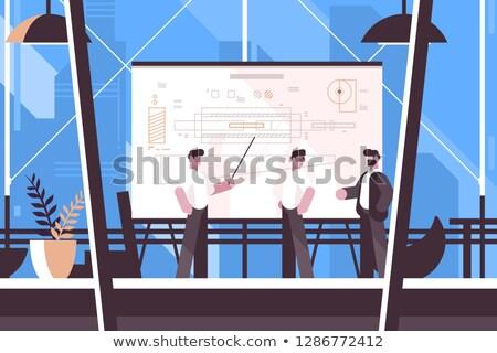 Homem engenheiro lousa informação trabalhador Foto stock © jossdiim