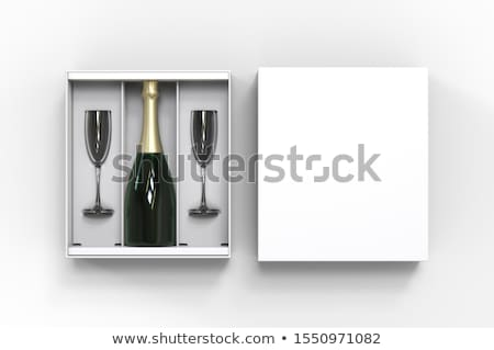 Stock photo: Champagne and gift box