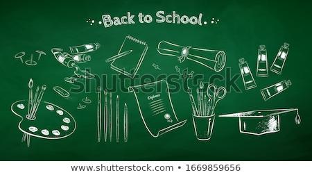 mão · graduação · boné · escolas · estudante · fundo - foto stock © rastudio