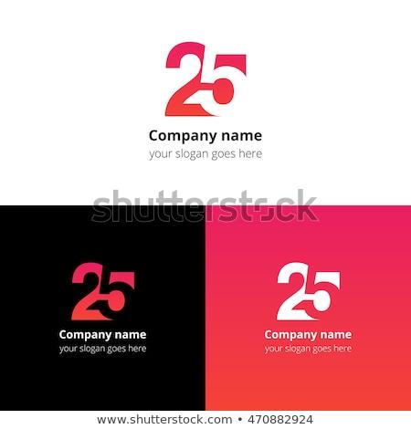 number twenty five 25 2 and 5 logo icon vector Stock photo © blaskorizov