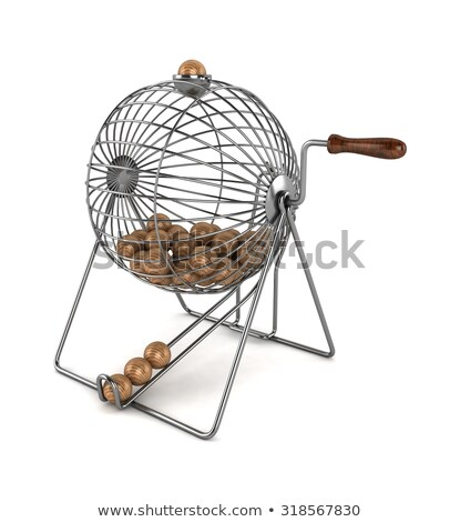 Wooden cage on white background Stock photo © colematt