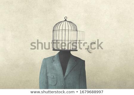 オープン · 真鍮 · 金属 · 刑務所 - ストックフォト © lightsource