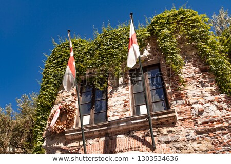Detail of Christopher Columbus House in Genoa, Italy Stock photo © boggy