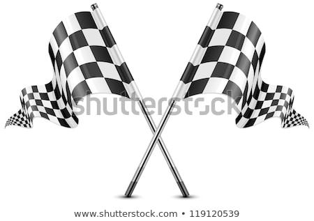 motor race waving flag stock photo © nazlisart