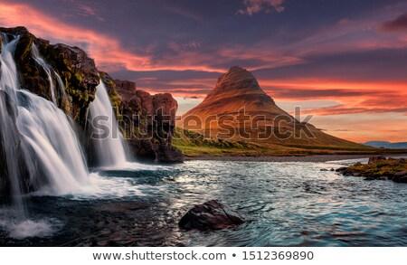 kirkjufellsfoss   the most beautiful waterfall in iceland stock photo © kotenko