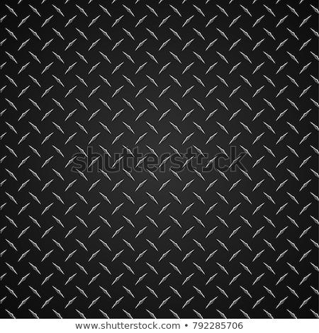 Gyémánt tányér végtelen minta fém végtelenített ismétlés Stock fotó © jeff_hobrath