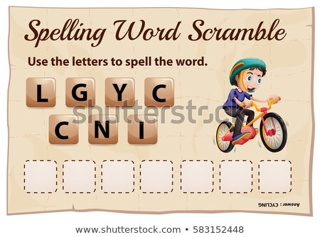 Spelling word scramble template for word cycling Stock photo © colematt