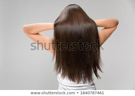 красивой долго волос природного Сток-фото © Pilgrimego