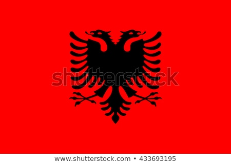 Arnavutluk bayrak beyaz büyük ayarlamak arka plan Stok fotoğraf © butenkow