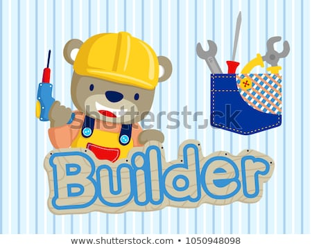 Constructor dibujos vector boceto Cartoon Foto stock © netkov1