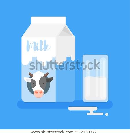Cup Of Milk And Carton Of Milk Foto d'archivio © curiosity