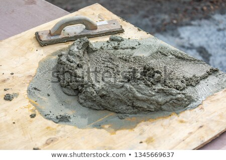 Hout vergadering nat cement boord Stockfoto © feverpitch