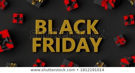 black · friday · verkoop · reclame · badges · geschenken - stockfoto © robuart