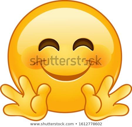 Liebenswert Business Computer Hand Lächeln Stock foto © yayayoyo