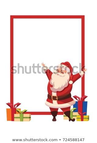 Alegre Navidad papá noel amplio abierto manos Foto stock © robuart